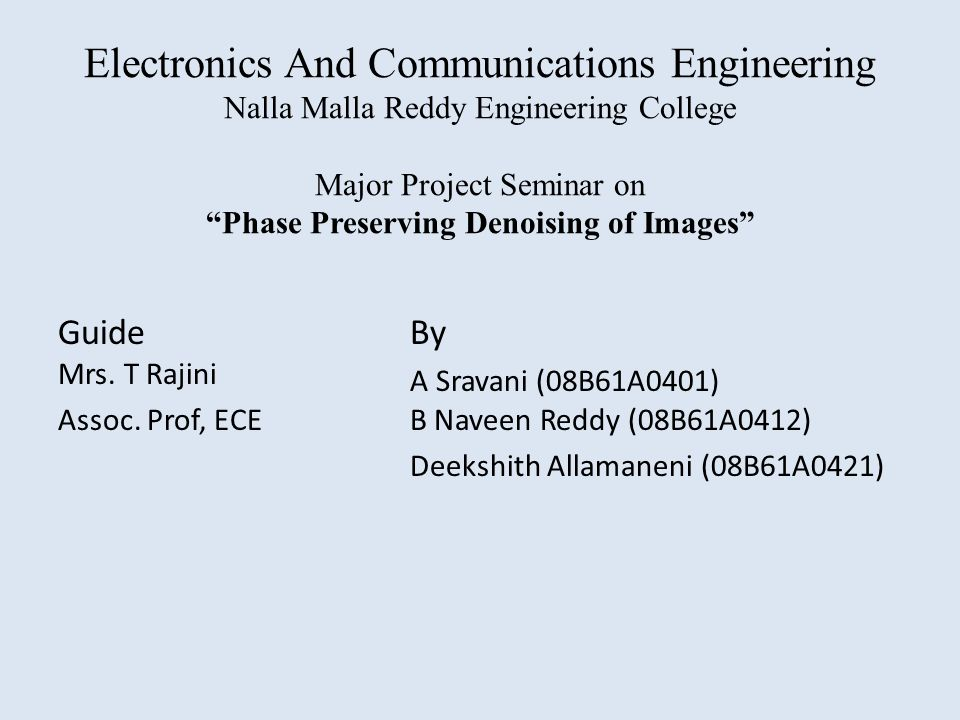 Electronics And Communications Engineering Nalla Malla Reddy ...