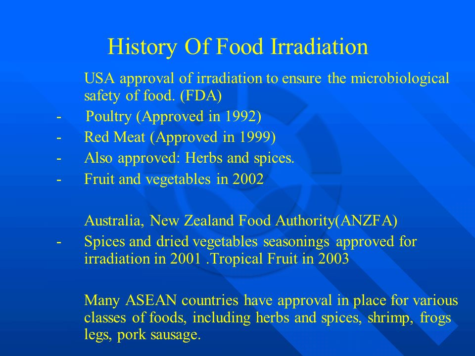 Facts about Food Irradiation (1999)