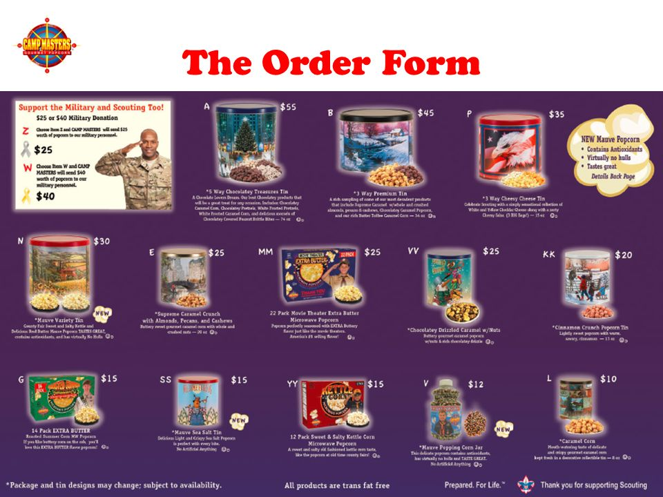 Shac popcorn prizes for cub