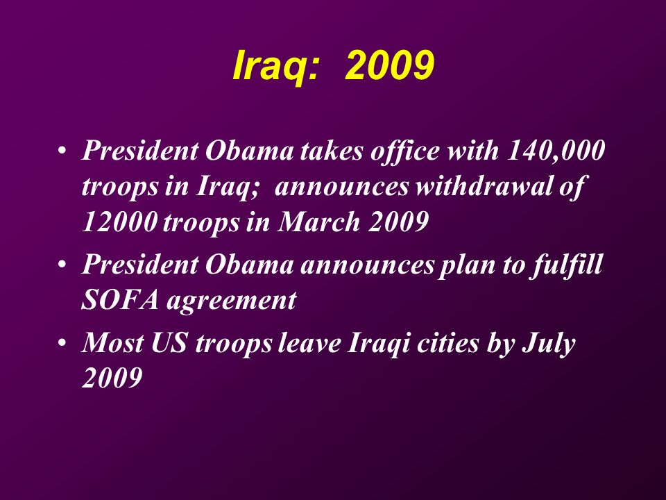 Timeline For Iraq War March 2003 War Begins April 2003 Fall Of