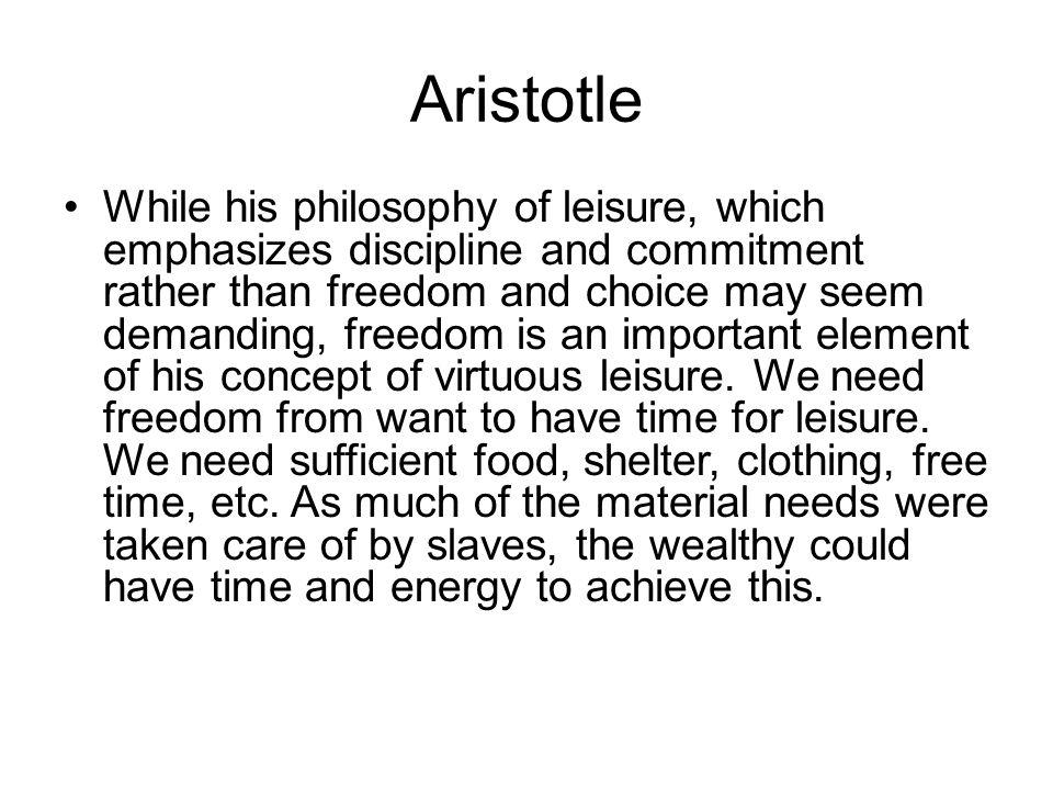 aristotle on leisure