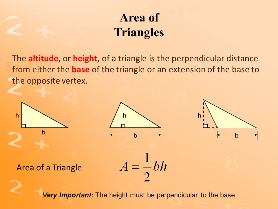 Area Of Triangles Section 84 Goal Find The Area Of Triangles