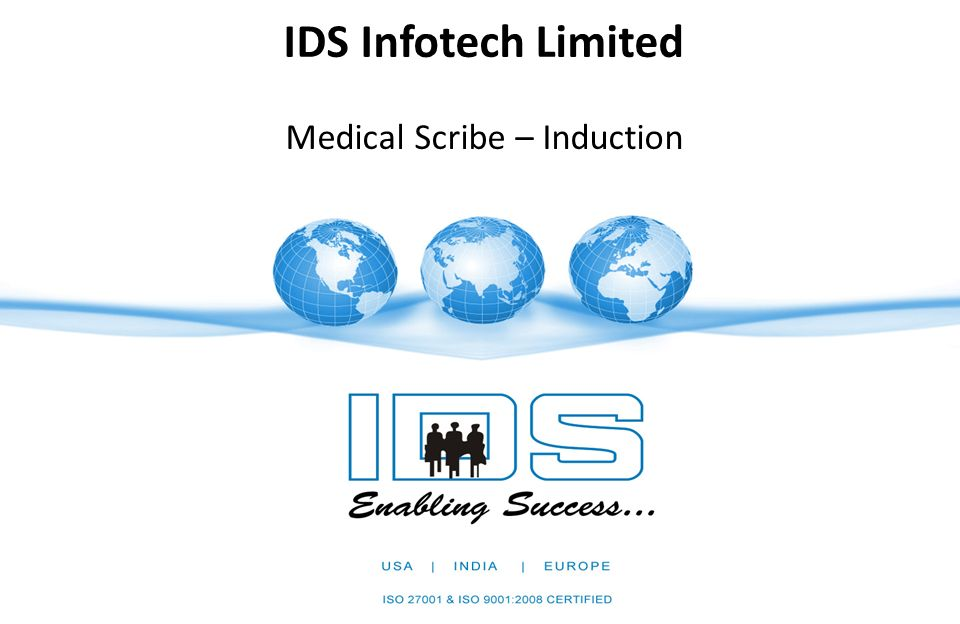 Ids Infotech Limited Medical Scribe Induction Job Profile