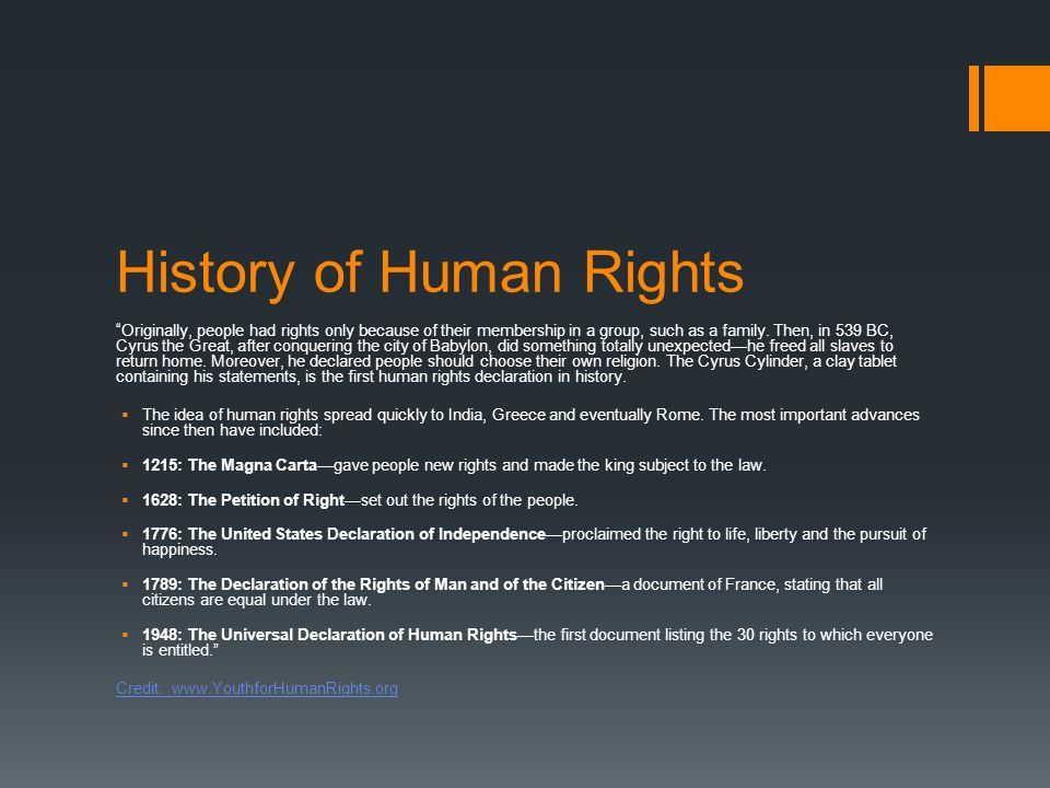 EVERY HUMAN HAS RIGHTS. WHAT ARE HUMAN RIGHTS?  - ppt download