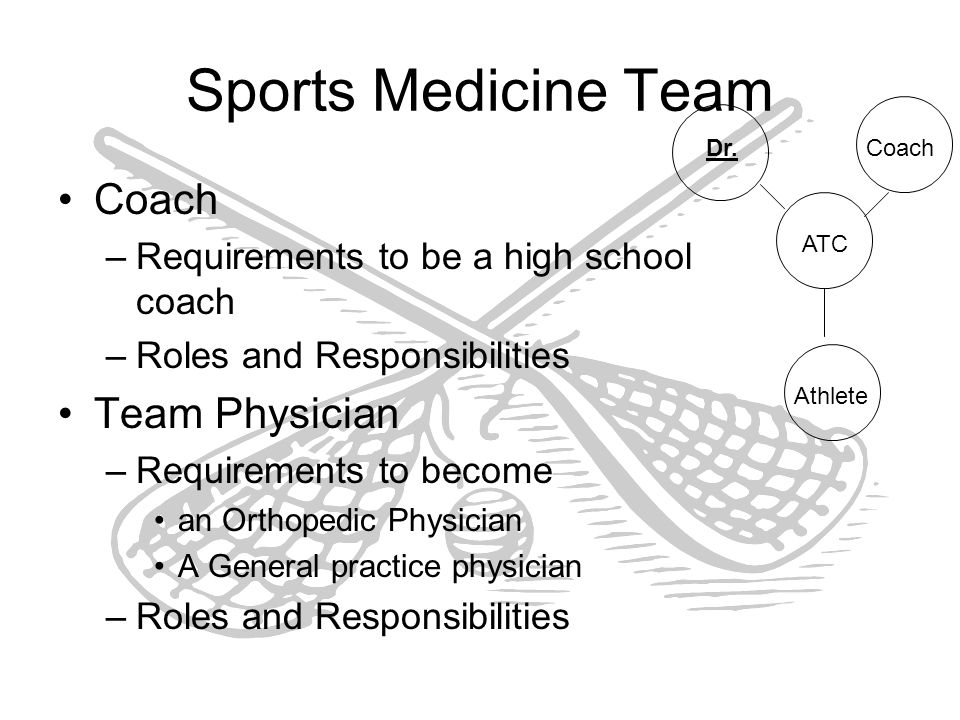 Sports Medicine and Athletic Training  The Sports Medicine