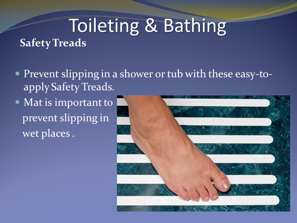 Safety Treads Prevent slipping in a shower or tub with these easy-to ...