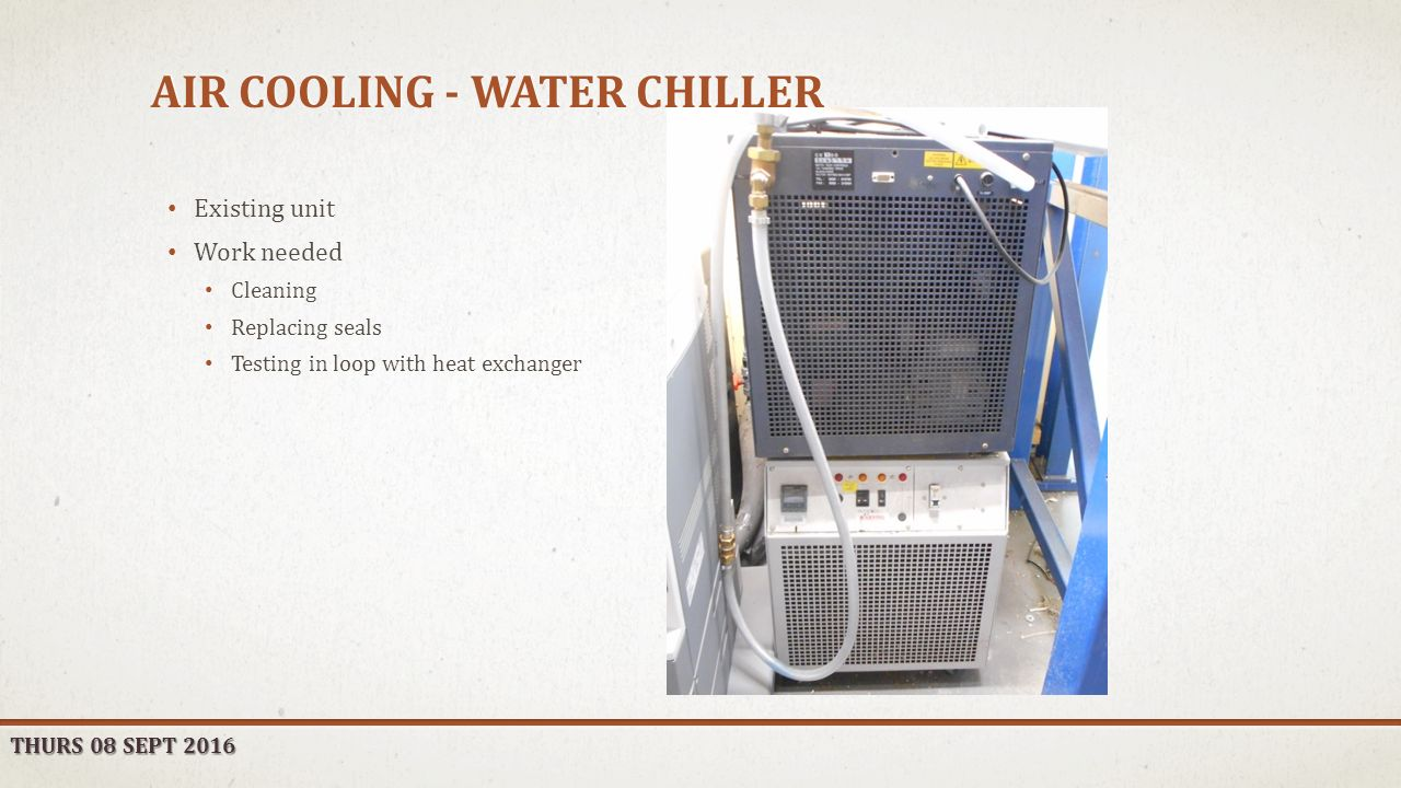 AIR COOLING & PROFILOMETRY OXFORD SYSTEM IMPLEMENTATION P A