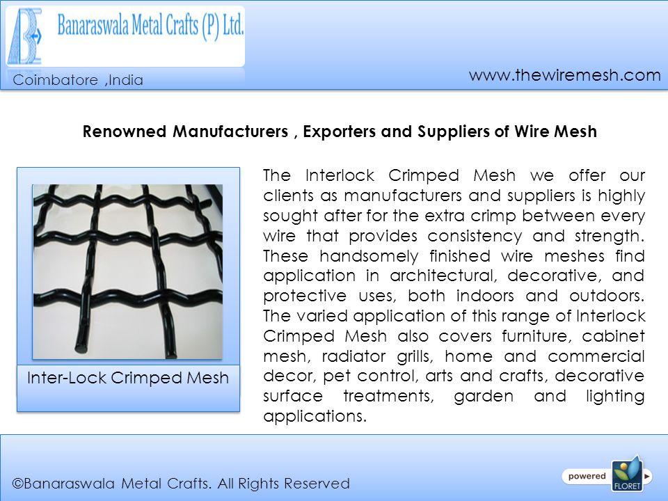 Coimbatore, Tamilnadu, India Leading Manufacturers, Exporters and ...