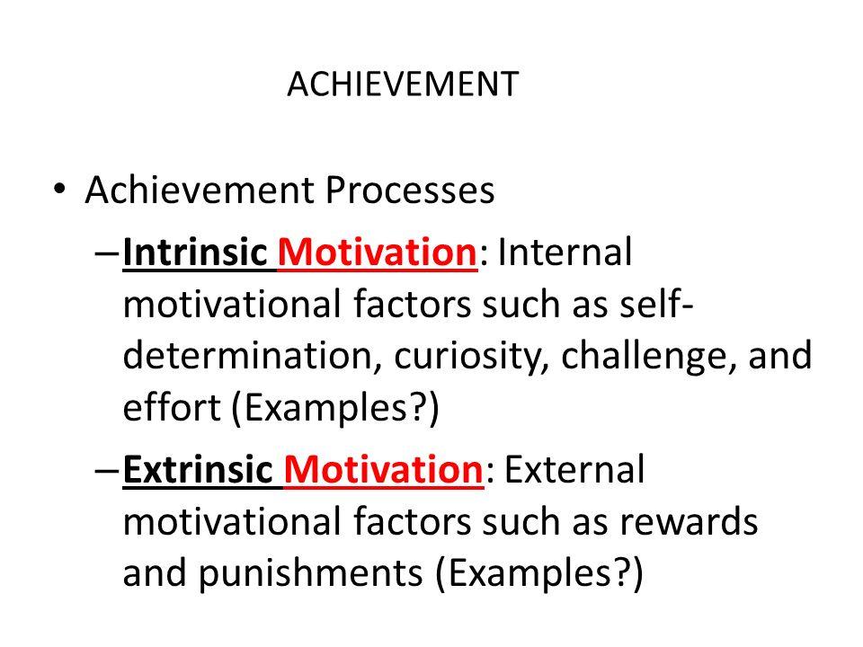achievement motivation examples