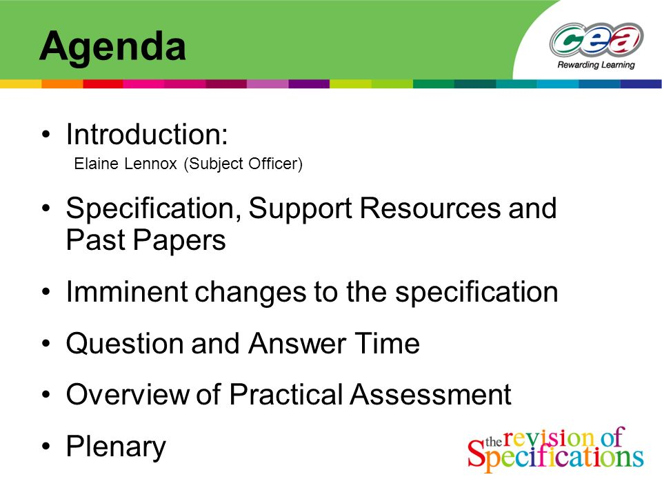 Ccea information event gce chemistry thursday 2 nd october ppt download 2 agenda introduction elaine lennox subject officer specification support resources and past papers imminent changes to the specification question and urtaz Gallery