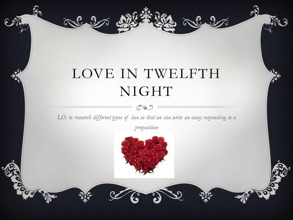 types of love in twelfth night