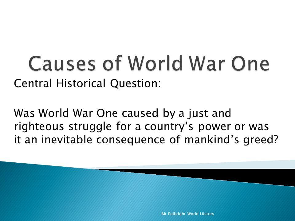 was world war 1 inevitable