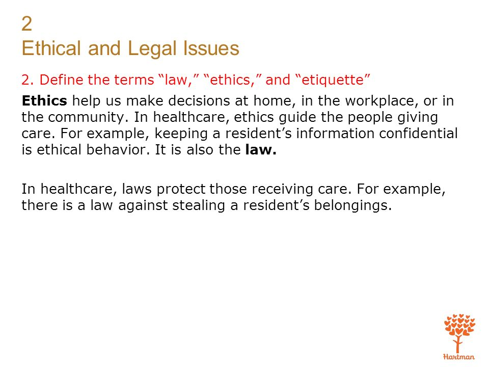 ethical and legal examples
