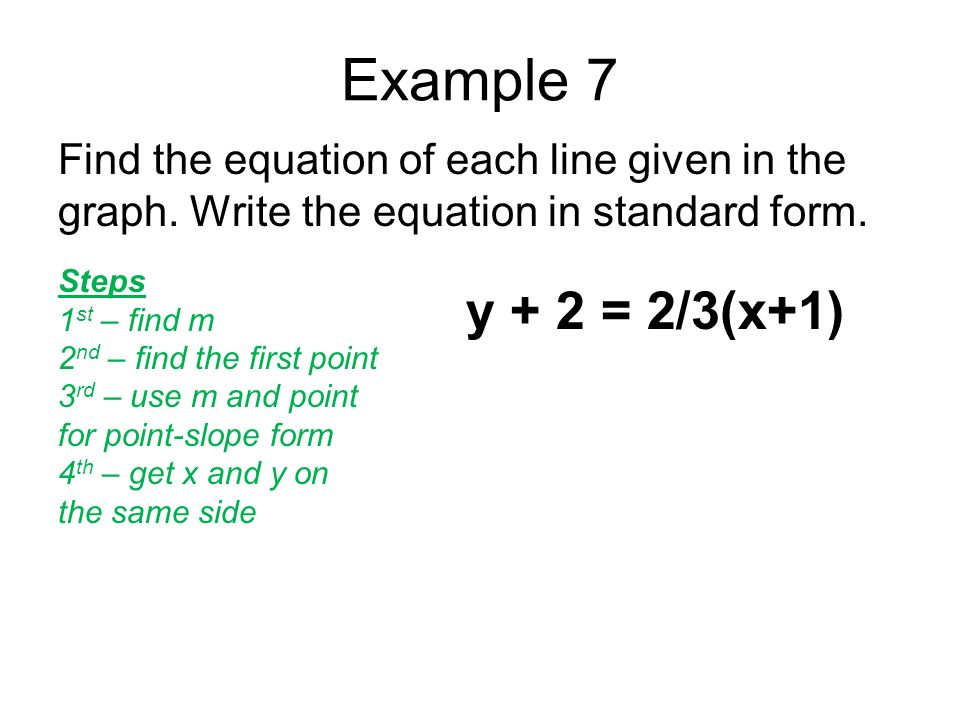 Chapter 5 Objective 2 Writing Equations In Standard Form Using 2