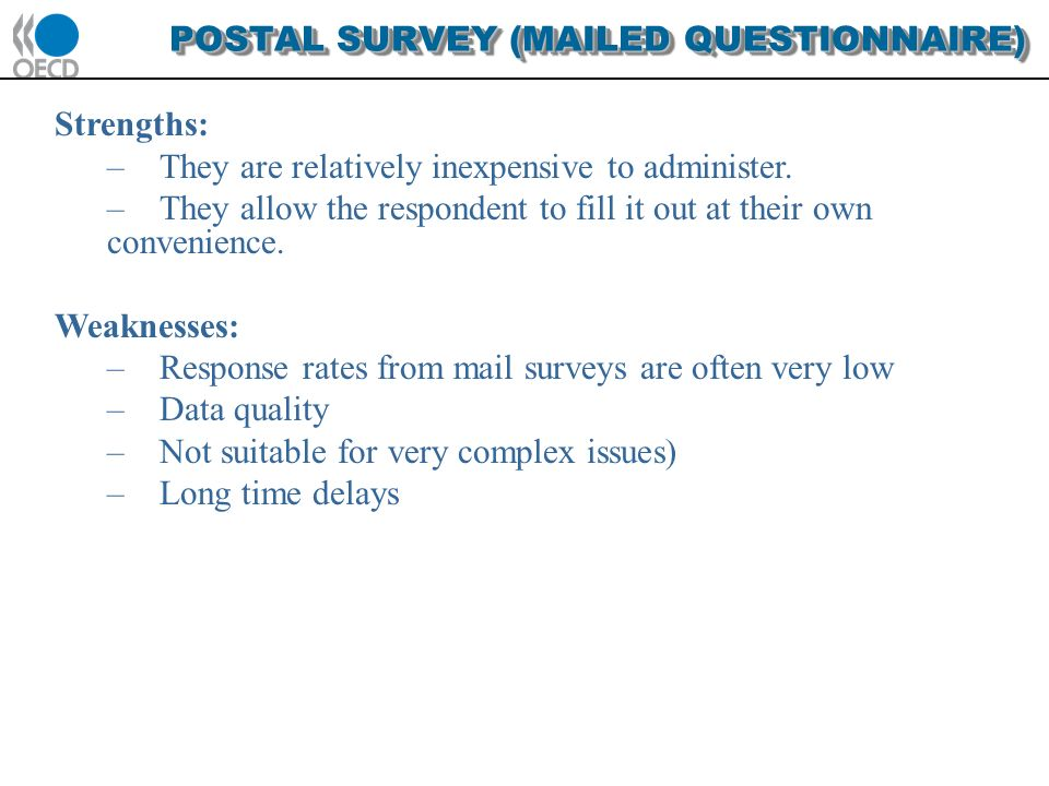 what is mail questionnaire what are its advantages and limitations