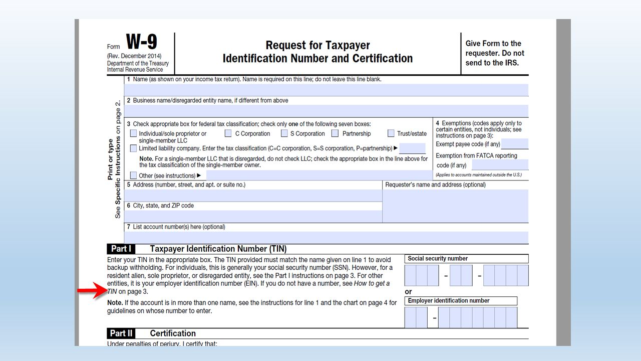 IRS Form W-9. Copyright Notice This presentation is copyrighted ...