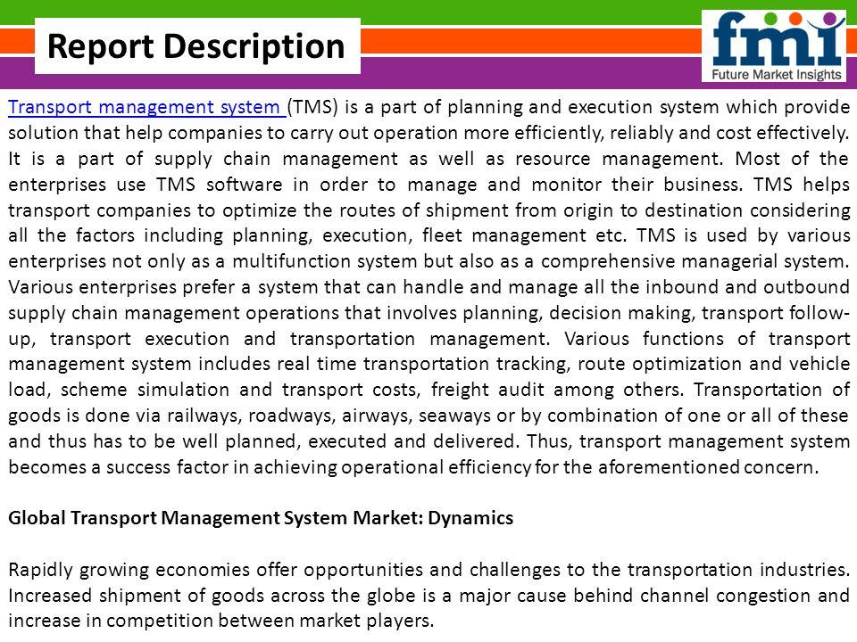 Transport Management System Market Share, Global Trends