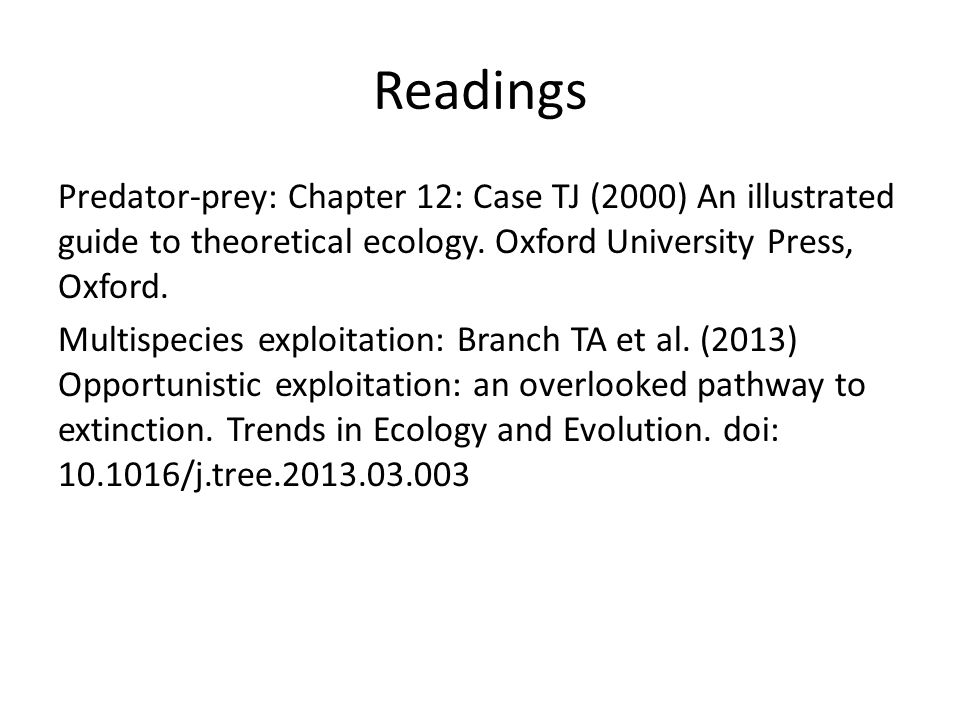 predator prey equations readings predator prey chapter 12 case tj rh slideplayer com illustrated guide to theoretical ecology pdf The Illustrated Guide to the Illustrated Guide to National Electrical Code NEC