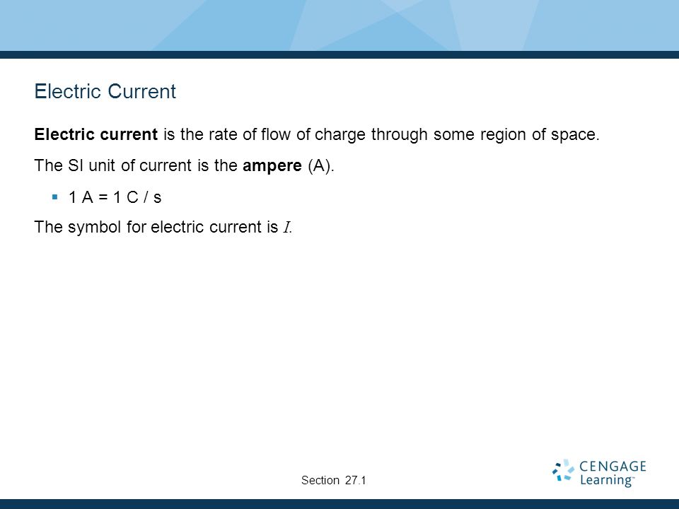 Chapter 27 Current And Resistance Electric Current Most Practical