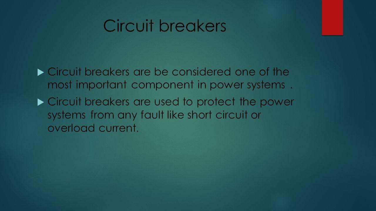 Group names  أبوبكر عبد المعز & عبدالله سلامه. Circuit breakers ...