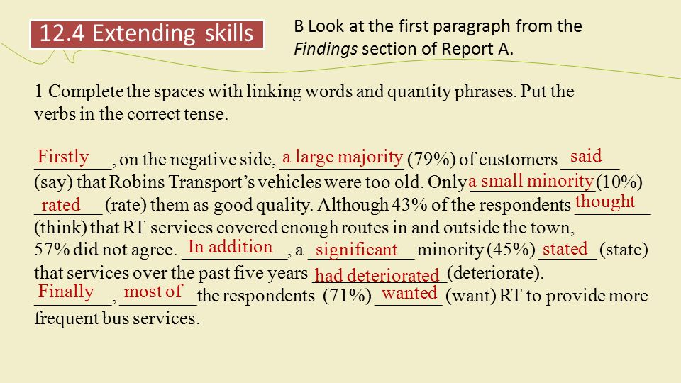 linking words to start a paragraph