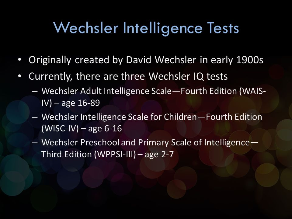 Pity, that Wechsler adult intelligence scale third edition