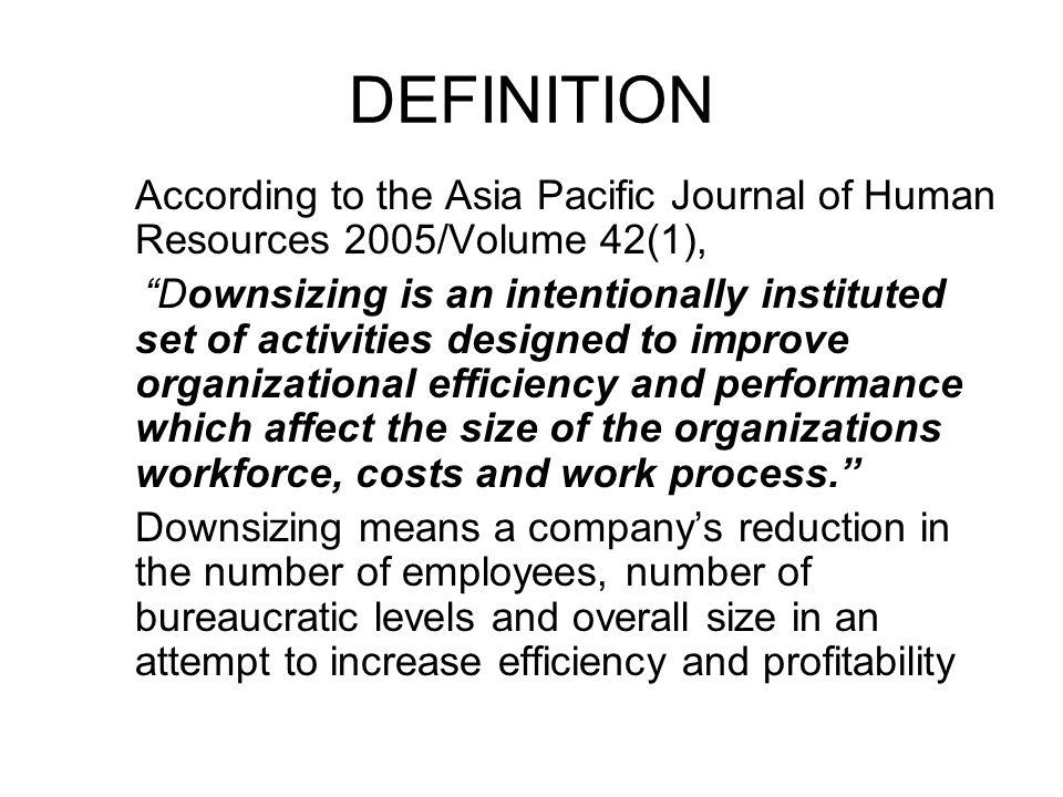 downsizing definition