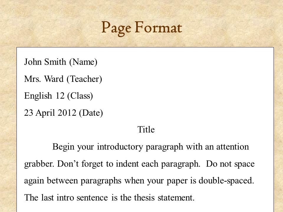 Constructing a documented essay p elements of literature 4 th