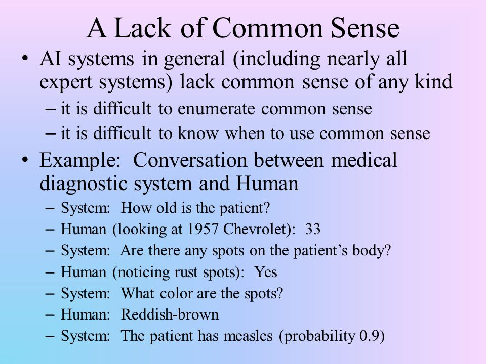 Common Sense Reasoning Humans Use Their Common Sense All The Time