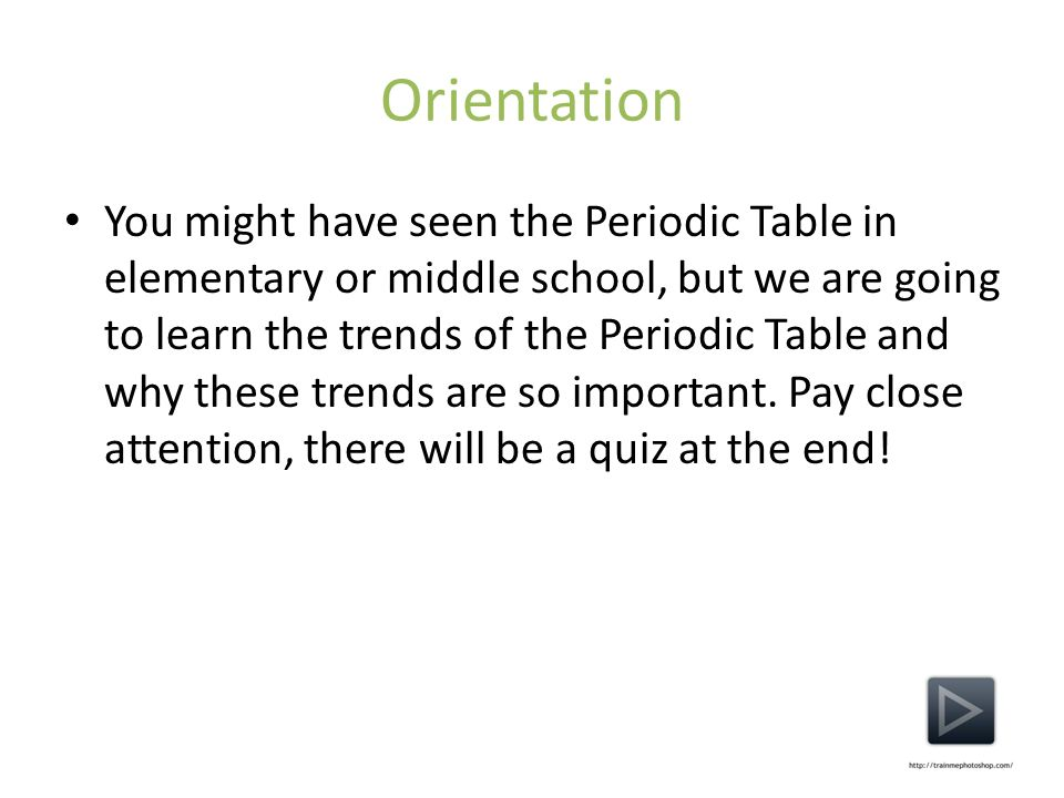 Periodic table trends by eric myers additional information about 3 orientation you might have seen the periodic table in elementary or middle school but we are going to learn the trends of the periodic table and why urtaz Image collections