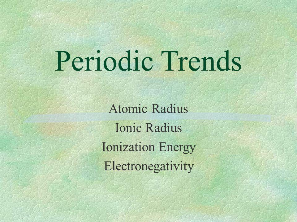 Periodic trends atomic radius ionic radius ionization energy 1 periodic trends atomic radius ionic radius ionization energy electronegativity urtaz Image collections