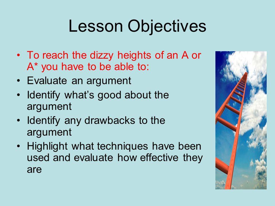 english argument techniques