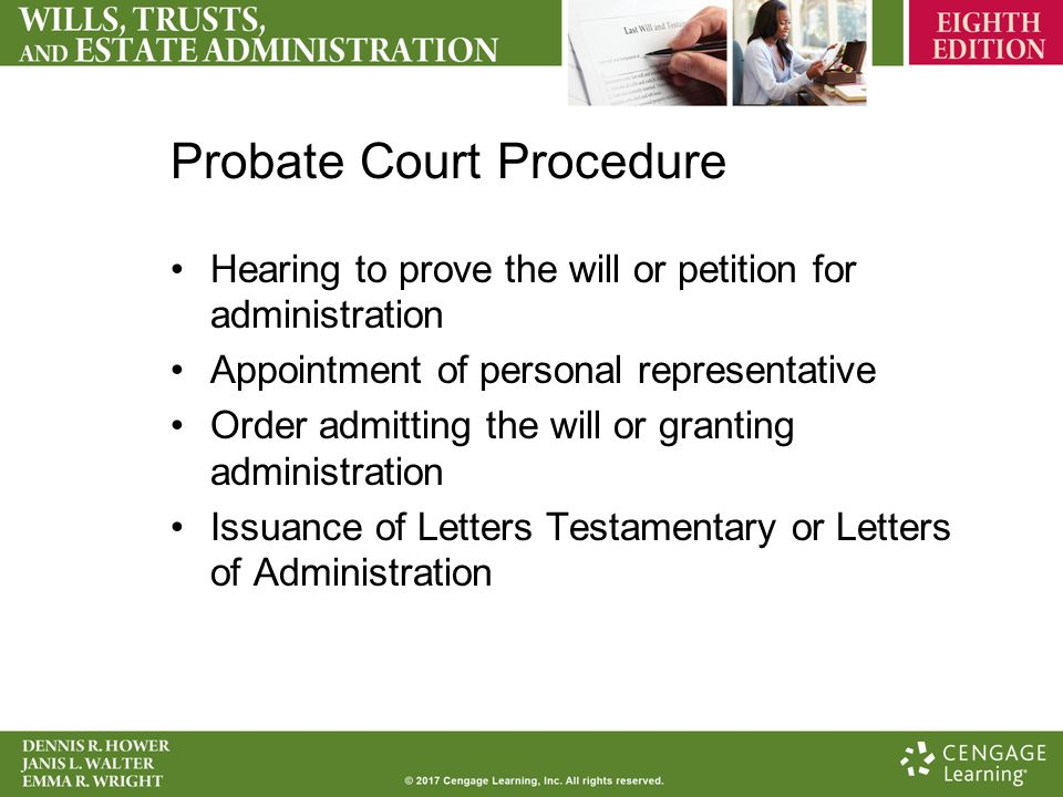Probate and Estate Administration Chapter 9 Probate or Estate