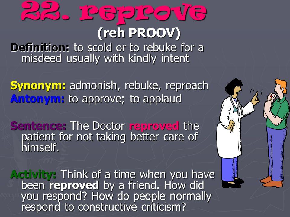 Reprove synonym