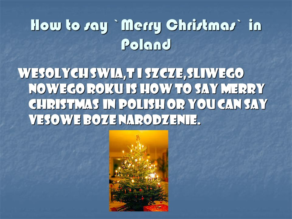 5 christmas - How To Say Merry Christmas In Polish