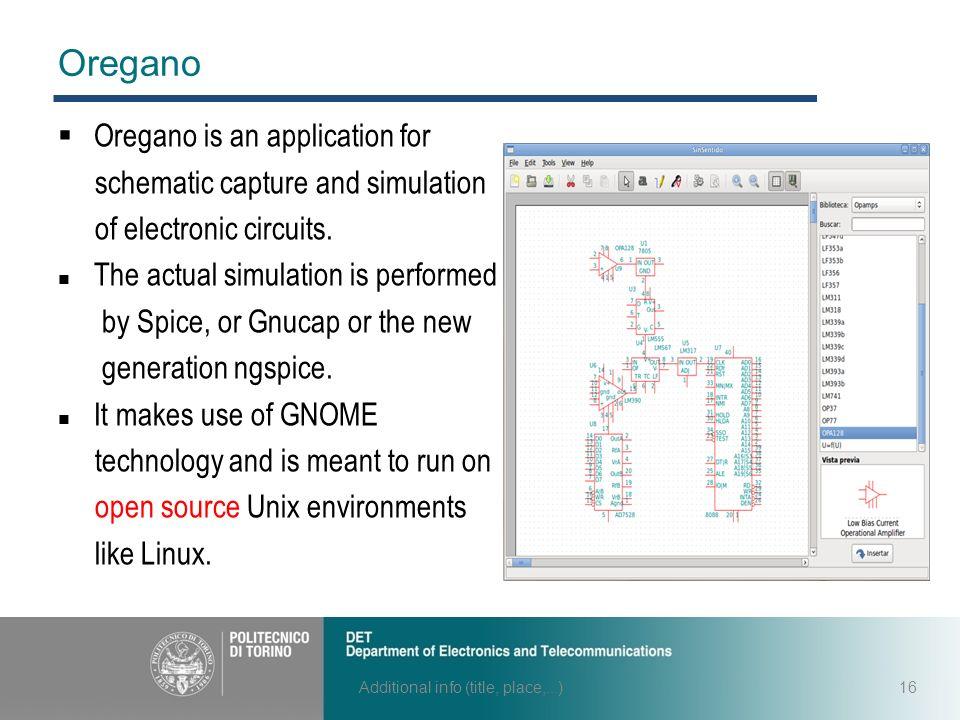 Free softwares for analog electronic circuit simulations Jiang Tao s ...