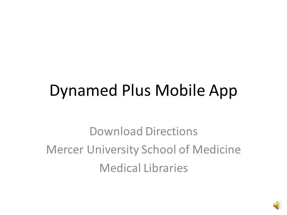 Dynamed Plus Mobile App Download Directions Mercer