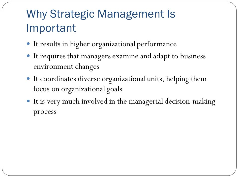 why management is important