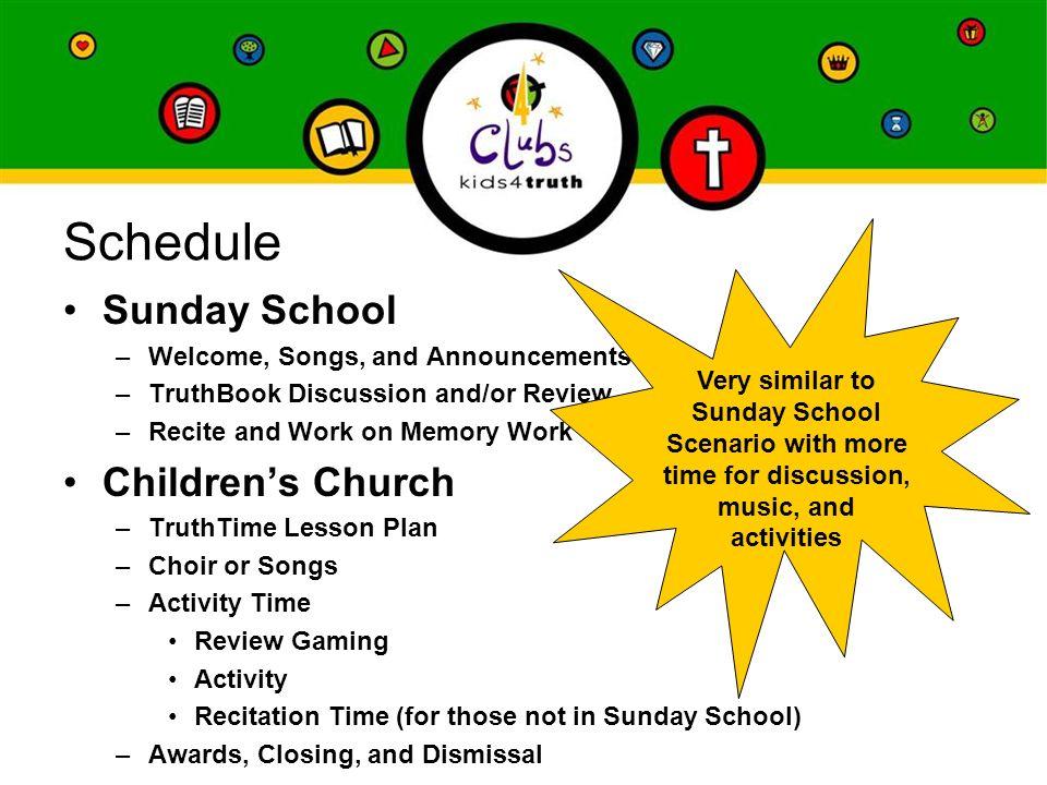 Sunday School ~ Children's Church Combo Scenario Using Kids