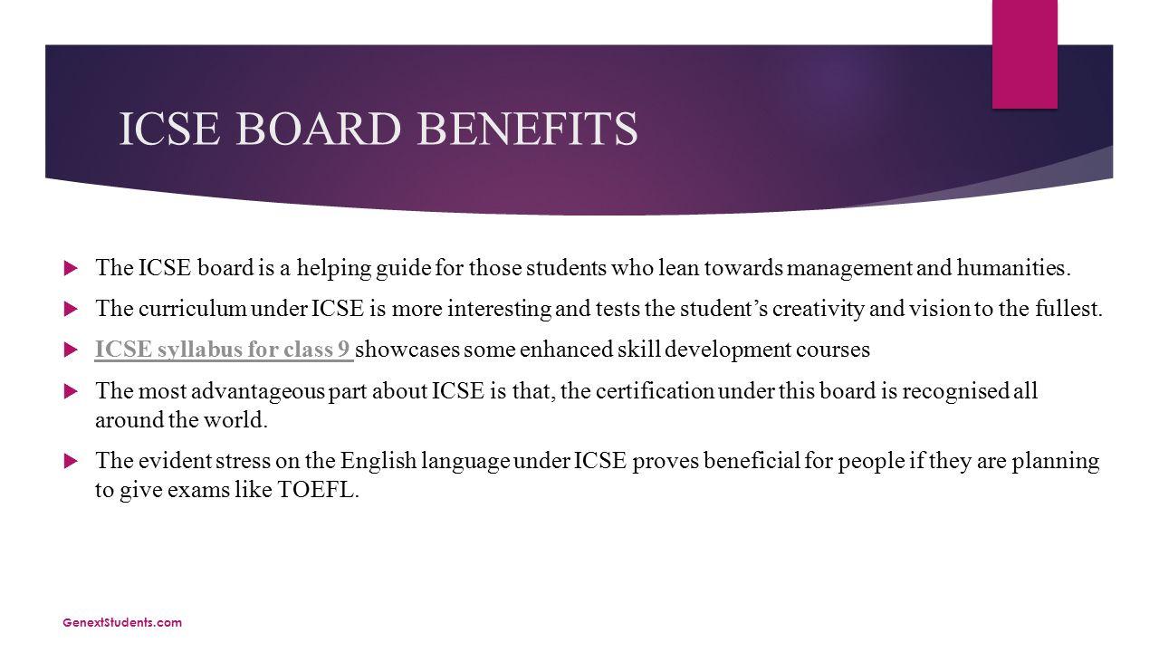 Topic: ICSE syllabus for class 10 ICSE syllabus for class 10