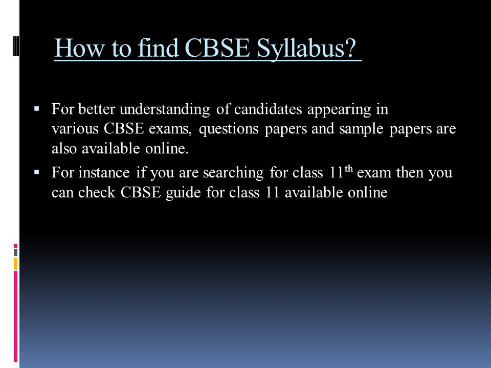 How to find CBSE Syllabus.