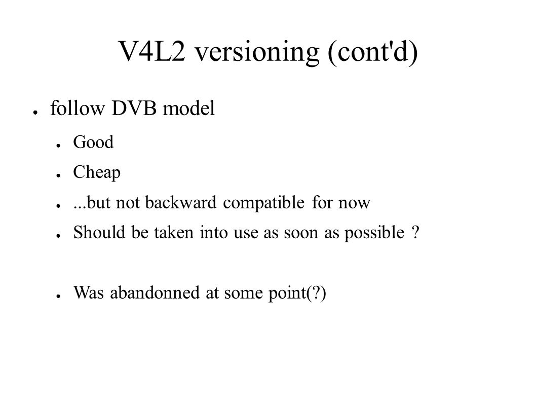 V4L2 and DVB Perspective from user-space API consumer Rémi