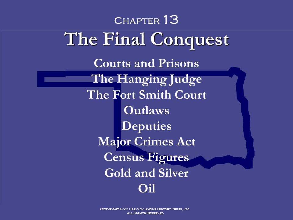 Copyright 2013 By Oklahoma History Press Inc All Rights Reserved