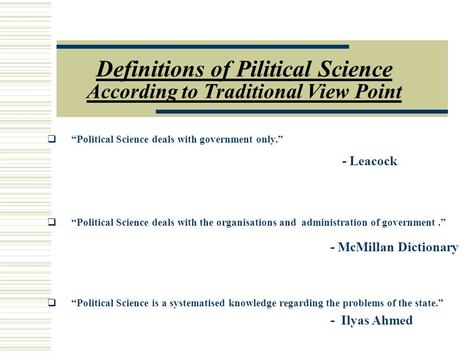 definition of a state political science