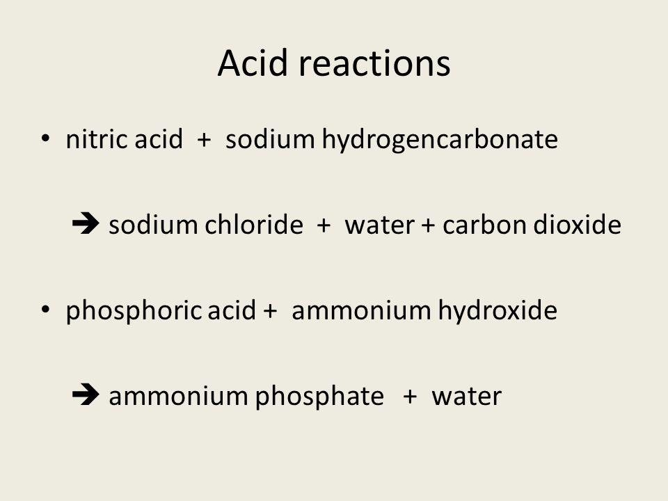 Acid Reactions Hydrochloric Acid Potassium Hydroxide