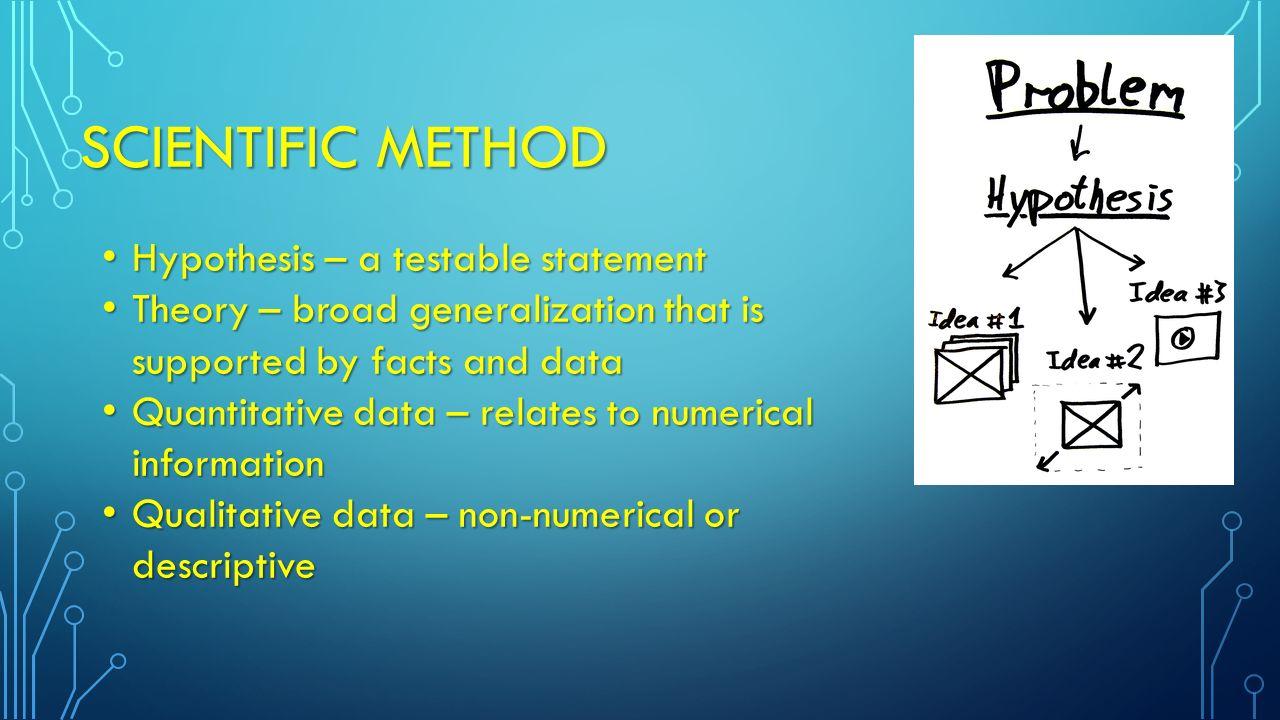 MEASUREMENTS  Scientific method – process - logical approach