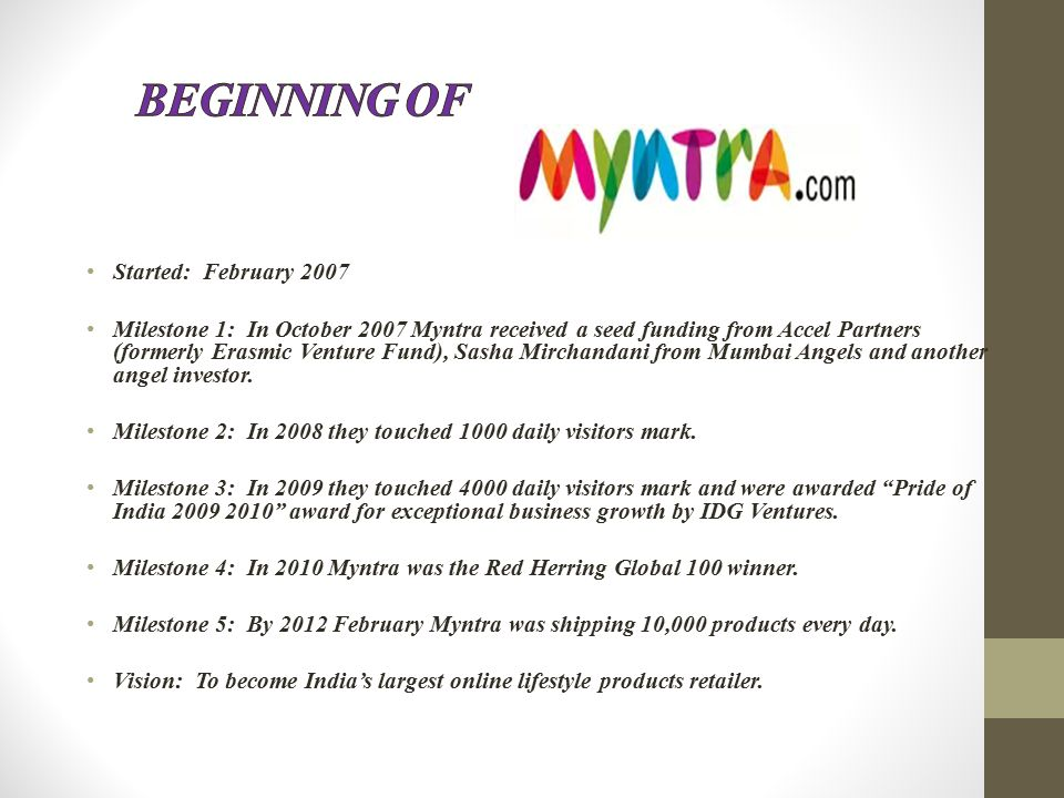 Acquisition Of Myntra By Flipkart VIMAL  Introduction Online Retail