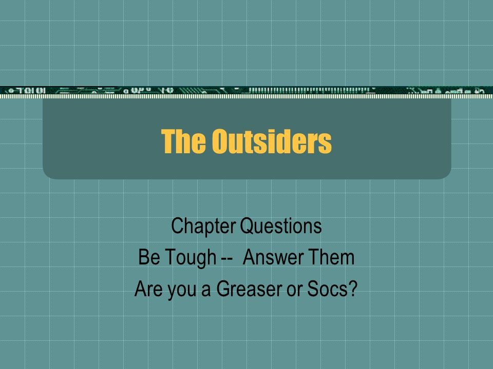 examples of foreshadowing in the outsiders