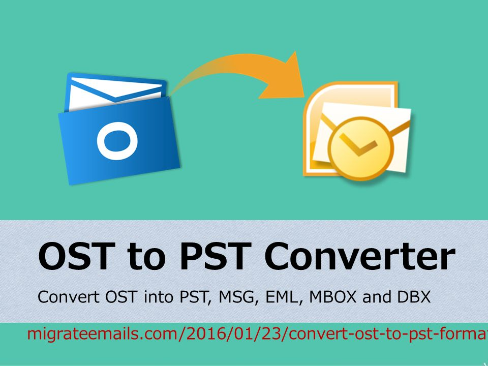 OST to PST Converter Convert OST into PST, MSG, EML, MBOX