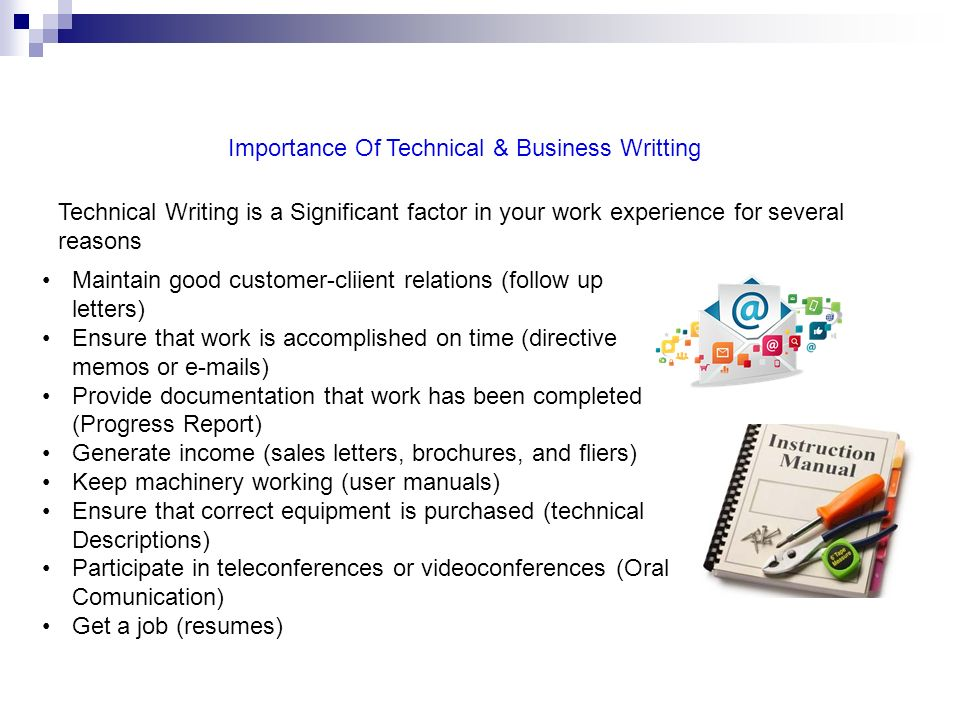 importance of technical writing skills